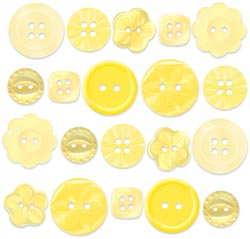 Buttons - Boutique Buttons - Bumblebee Assortment