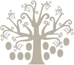Fabscraps - Large Family Tree with Frames