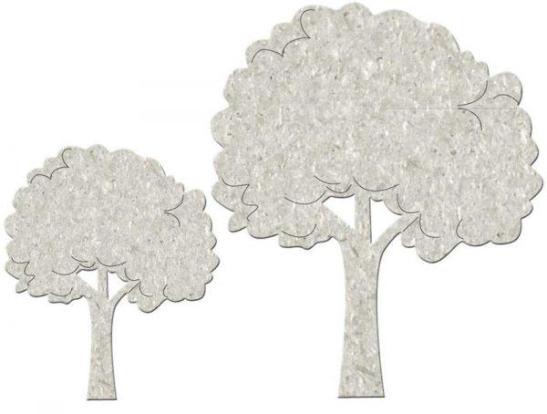 Fabscraps - Die-Cut Grey Chipboard Word - Fluffy Trees