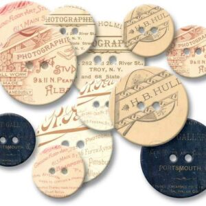 Chipboard Buttons - Photographer's Mark