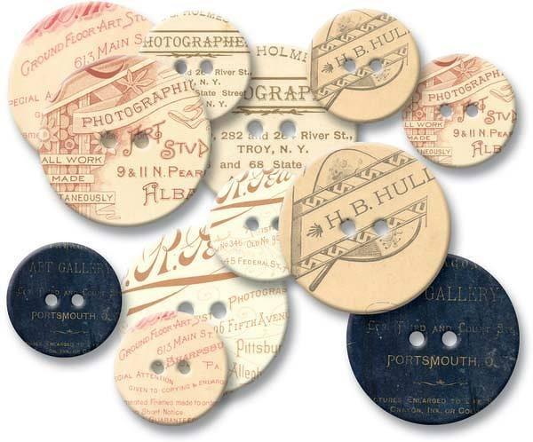 Chipboard Buttons - Photographer's Mark