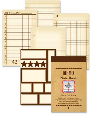 Memo Note Book - Brown
