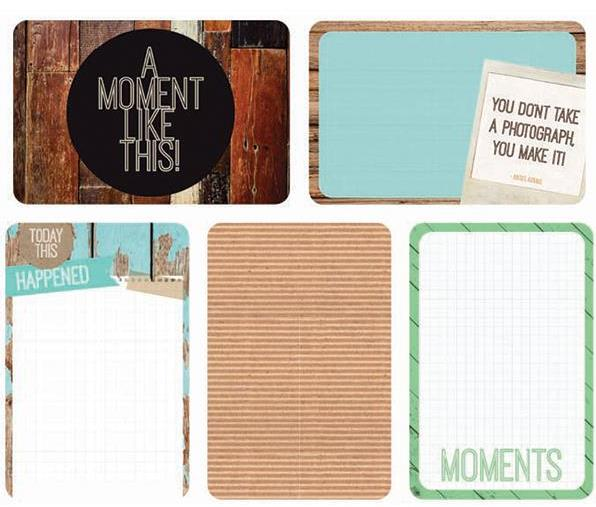"""Captured Moments - 4""""X 6"""" Double-Sided Cards - Base Coat"""