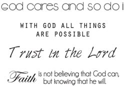 [Pin It] Miniature Clear Stamps - Prayer Words