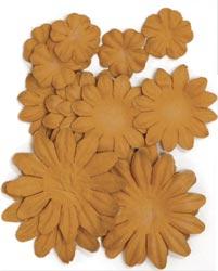 Paper Flowers - 2cm, 3.5cm, 5cm Assorted - Sepia