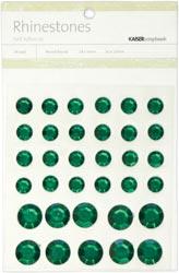 Rhinestones - Self Adhesive - Green