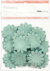 Paper Flowers - 3.5cm - Sky Blue
