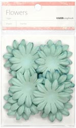 [Pin It] Paper Flowers - 5 cm - Sky Blue