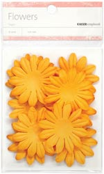 Paper Flowers - 5 cm - Orange
