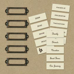 Eco-Modern Metal Art Label Holders & Labels