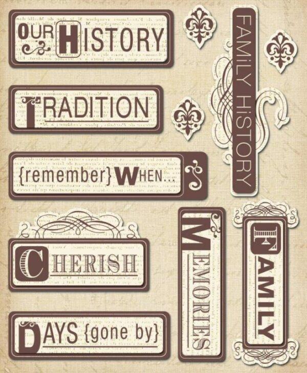 Heritage Words - Sticker Medley