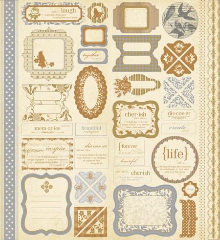 Paper Reverie - Metallique Ephemera Stickers