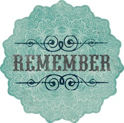 Stella & Rose Hattie - Remember- Die-Cut Cardstock Title
