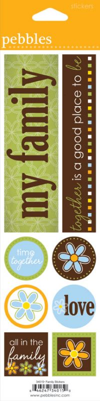 "Family - Mini Theme Stickers 3""X12"""