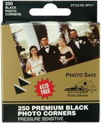 Photo Corners - Premium Black Photo Corners