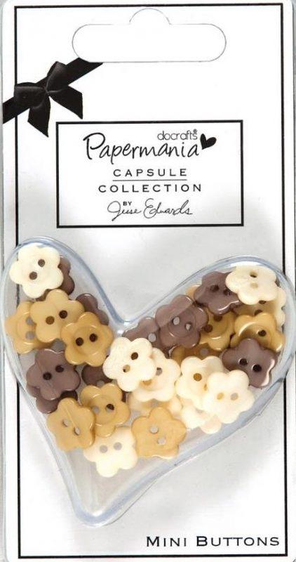 Papermania - Lincoln Linen - Mini Buttons