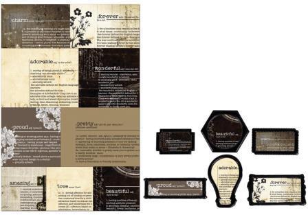 Prima Marketing - Engraver - Newsprint Decorative Frames