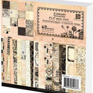 "Almanac Paper Stack 6""X6"" 48 Sheets"