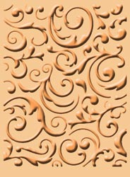 Cuttlebug A2 Embossing Folder - Musical Flourish
