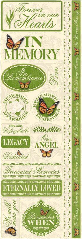 Reminisce - In Loving Memory Signature 3 Cardstock Combo Stickers