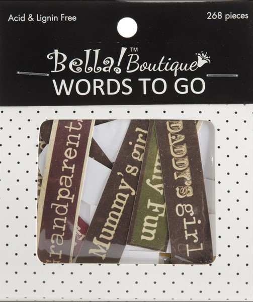 Bella! Boutique Family Words To Go Die-Cuts