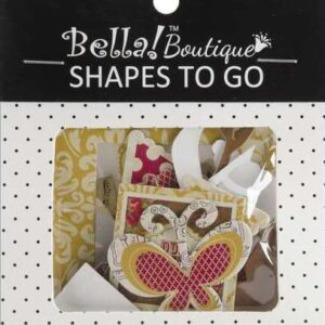 Bella! Boutique Family Shapes To Go Chipboard 32/Pkg