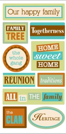 Family Words Sandylion Essentials Stickers