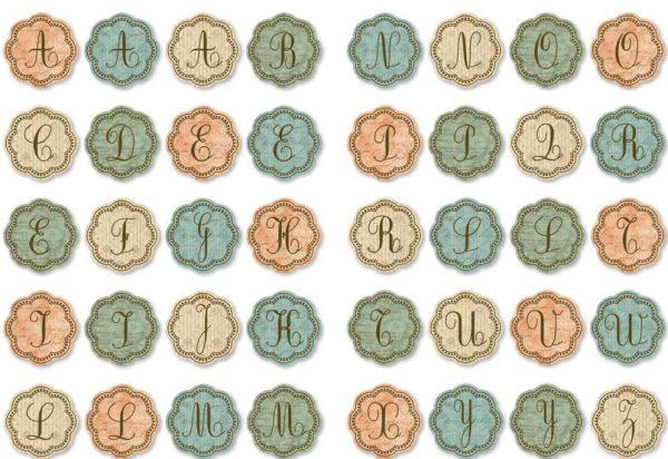 Grandma's Attic - Chipboard Alphabet