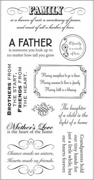 Paper Company Clear Stamps - All In The Family