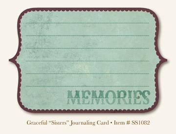 """So Sophie - Graceful """"Sisters"""" Journaling Card"""
