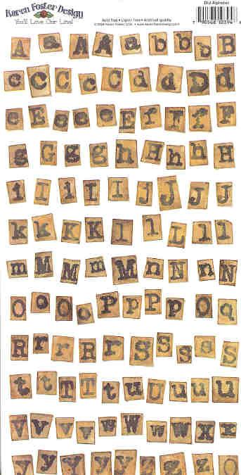 Ancestry 1 - Old Alphabet Stickers
