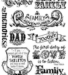 7 Gypsies - Ink - Family - Clear Stamps