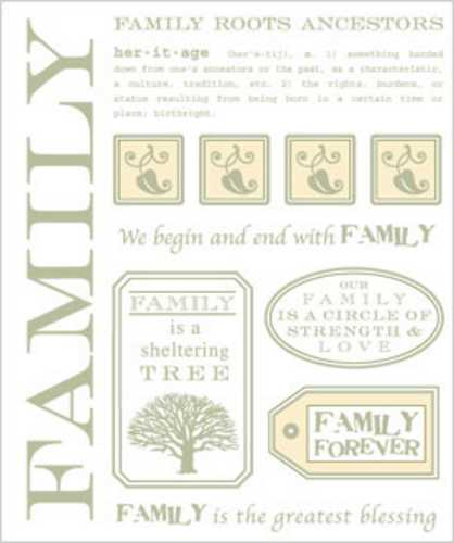 S.R.M. Stickers - Family Family