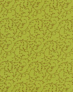 """8 1/2"""" x 11"""" Green with Gold Vines"""