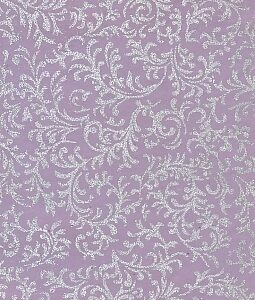 "8 1/2"" x 11"" Lavender with Silver Brocade"