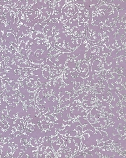 "8 1/2"" x 11"" Lavender with Silver Brocade"