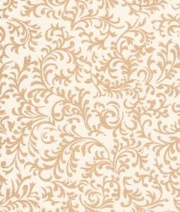 "8 1/2"" x 11"" White and Gold Brocade"