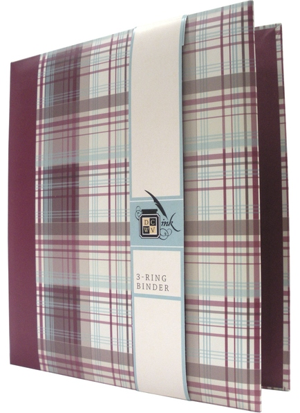 "Loft Plaid - 8.5"" x 11"" - 3 Ring Binder"