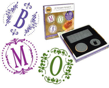 JustRite Monogram Stampers - Times New Roman Font