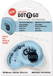 "Glue Dots 3/8"" Memory Dot 'n Go Disposable Dispenser"