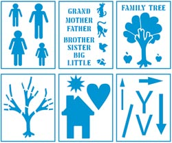 Family Tree - Kids Activity Project Stencils