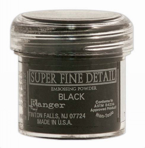 Black Super Fine Embossing Powder - Ranger