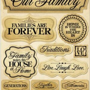 Reminisce - Signature Dimensional Stickers - Family