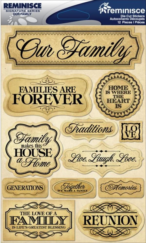 Reminisce - Signature Dimensional Stickers - Family
