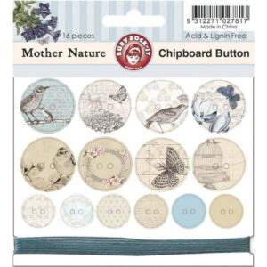 Mother Nature - Chipboard Buttons