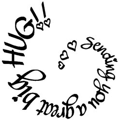 Stampendous Rubber Stamp - Sending A Hug