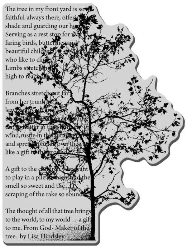 Stampendous Rubber Stamp - Tree Poem