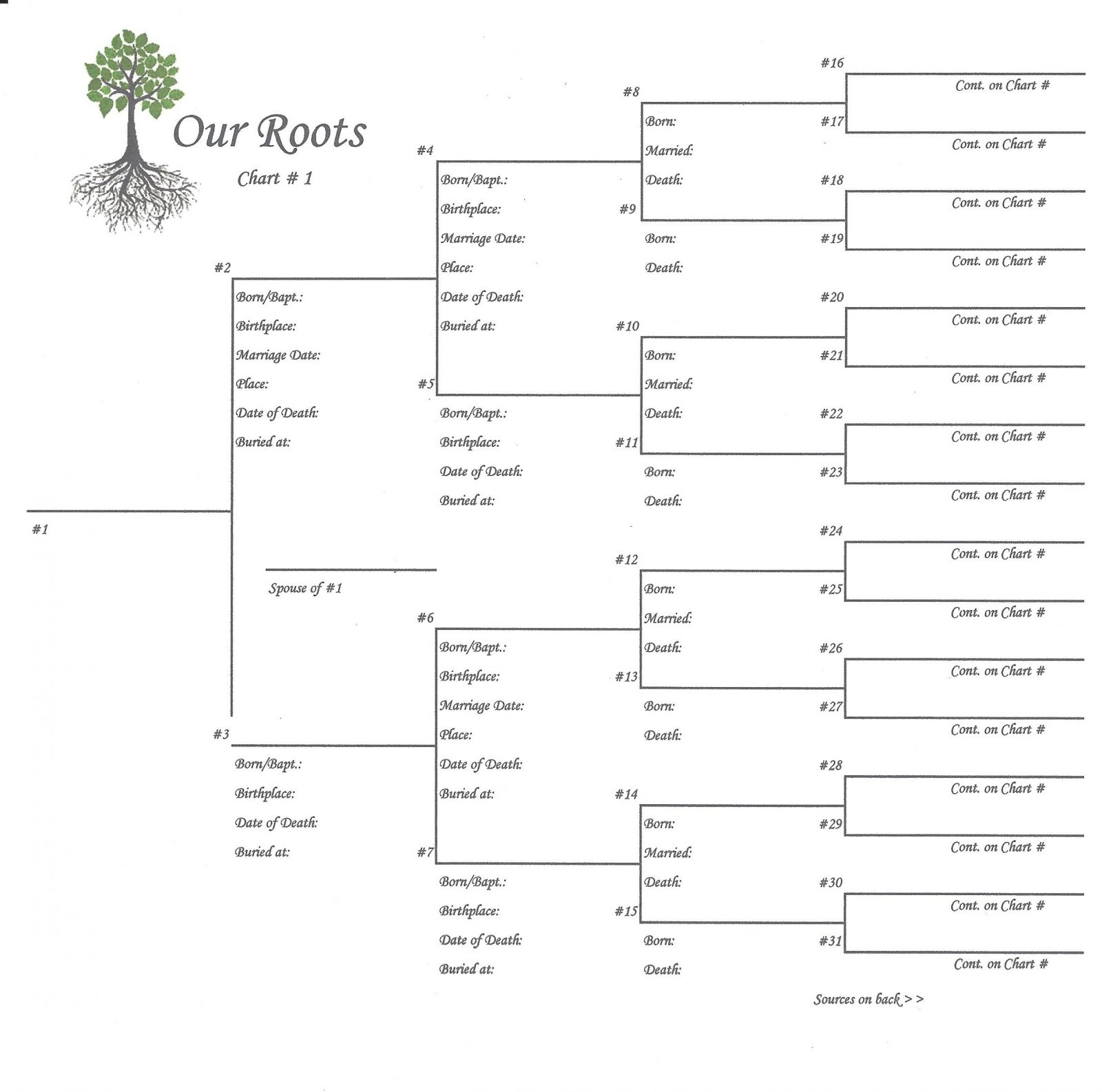 Our roots 8 x 8 pedigree chart 1 scrapbook your family tree