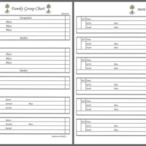 """Our Roots - 8"""" x 8"""" - Family Group Chart 4"""