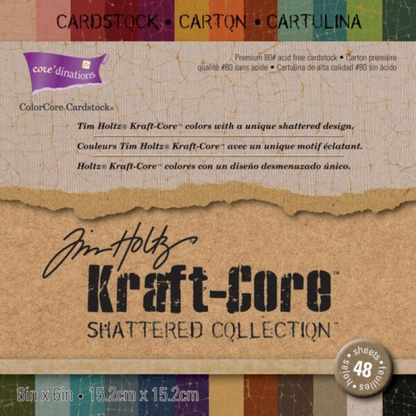 "Core'dinations Kraft Core - Shattered - 6""x 8"""